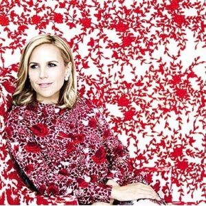 {tory burch} cabernet floral butterfly print top
